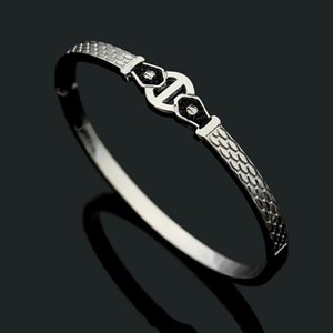 Nail pattern black mud diamond Snake Bracelet women's foreign trade Plaid Bracelet