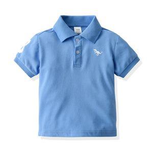Boy's T-shirt Short Sleeve Polo's Collar Summer Kids T-shirt Fashion Classic Children T-shirt 90 100 110 120 130