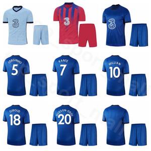 20 21 22 축구 크리스챤 Pulisic 저지 세트 7 N GOLO Kante 18 올리비에 지루 17 마테오 코바 치치 KANTE 축구 셔츠 키트 Q-E-X