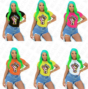 BLACK LIVES MATTER Women T-shirt Designer Cartoon Fashion Round Neck Tops Tees Short Sleeves Tshirt Plus Size T Shirt S-3XL D7805
