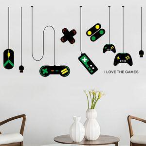 아이들을위한 게임 룸 침실 인터넷 카페 배경 장식 비닐 자체 친화적 인 예술 벽 데칼의 창조적 인 게임 패드 벽 스티커
