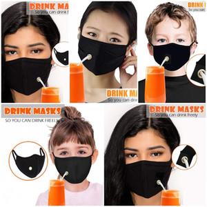 Masques réutilisables lavable visage Hanging oreille Mascarilla Mode Noir respirateurs Vie antipoussière Boisson Librement All Seasons Hot Vente 5mg D2