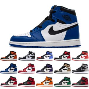 New Royal Toe Pine Green 1s Mens Women Basketball Shoes Court Purple Obsidian 1 UNC Bloodline Top 3 GYM Red Sports size 36-45