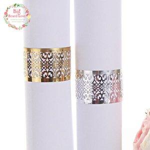 Titular de novia barato desechable Vajilla partido 40pcs corte del laser del partido del anillo de la servilleta de encaje servilleta de papel del favor del anillo de bodas Decoración Para