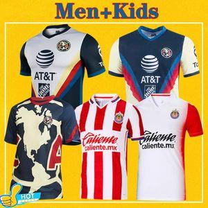 2021 Club America Soccer Jersey Guadalajara Chivas Bay Çocuk Kadınlar 20 21 Liga MX kulüp amerika Futbol Gömlek