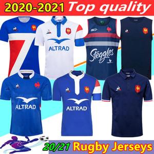 새로운 스타일의 2020 2021 프랑스 슈퍼 럭비 유니폼 셔츠 태국의 품질 20/21 프랑스 럭비 타이츠 드 발 프랑스어 BOLN 럭비 셔츠 조끼