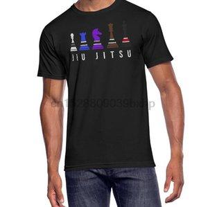 Erkekler Organik Tişört kadınlar Tişört tee üst - Metin Işık ile Jiu Jitsu BJJ Chess tişört Erkekler