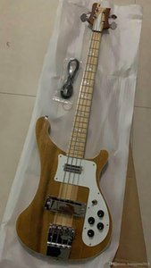 Ricken 4001 редкий полупрозрачный орех Walnut Vintage 4004 4003 4 String Electric Bass Guitar шеи через корпус одного корпуса шеи PC 181231