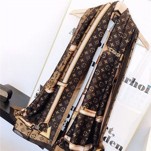 Новая мода женщина дамы шелковый шарф высокого качества шелка длинные шарфы Классический цветочный Printing дизайна летние шарфы Женщины размер 180x90cm
