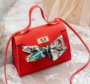 Designer Women's Bag Litchi Scarf Handbag 2020 One Shoulder Bow Crossbody Handbag In Stock