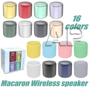 Mini Portable Bluetooth Speaker Macaron Stereo Wireless Speakers Music Waterproof Loudspeaker Outdoor Bathroom Showers Subwoofer with packag