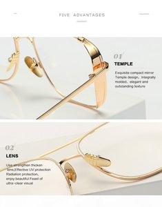 O 2020 Womens Designer Luxtury Golden Frame Clear Sunglasses For Men Women Uv 400 Protection Sun Glassesdr35623