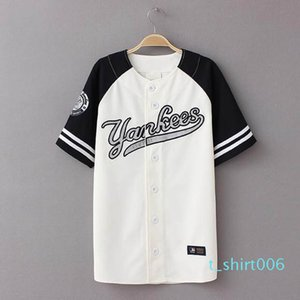 Wholesale-2016 New Summer Hip Hop Sports Fashion Baseball T shirt Korean style Loose Unisex Mens Womens Tee Tops Tide mujeres camiseta t06