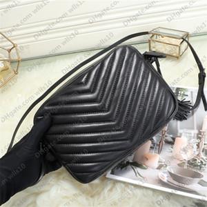 Yüksek kaliteli kadın Çantalar SOHO DISCO Çanta Gerçek Deri püskül fermuar Askılı çanta kadınlar Crossbody çanta 3 renk boyutu 23 * 16 * 6cm YB19