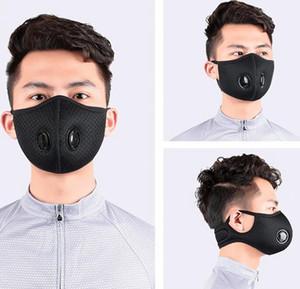 Máscara facial de ciclismo con filtro de carbón activado con el filtro de PM 2.5 Anti-Contaminación Deporte de máscaras de respiración de equitación GGA3568 Valve Mask