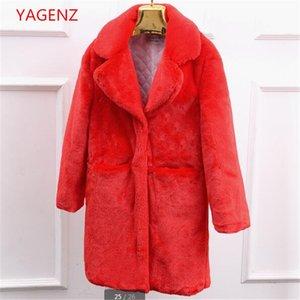 garantia de Inverno Qualidade casaco de lã casaco de inverno New espessamento do produto manter aquecido Moda Mulheres Casaco de pele Imitação cordeiros