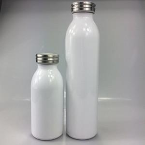 DIY Calor Sublimação 12oz / 20oz garrafas de leite Aço Inoxidável Leite frasco com tampas Double Wall crianças isolados a vácuo garrafa de água navio livre