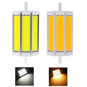 Toptan COB R7S 7W Sıcak Beyaz / Beyaz LED Taşkın Ampul 85-265V 78mm