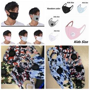 Riutilizzabile Camouflage respirazione valvola MaUnisesks bambini adulto seta del ghiaccio Bocca panno maschera anti-polvere Anti Pollution Mask Cloth Mask LJJA4167