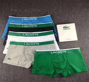 New Designer respirante hommes doux Caleçon Homme Sous-vêtements de Brief Lettre Underpants Pour Hommes Sexy Homme LACOSTE Caleçon