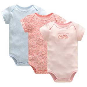 Baby Clothing Set Bodysuit 3pieces lot Summer 100% Cotton Short Sleeve Newborn Overall Clothes Infant Boy Girl Jumpsuit