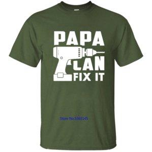 New Fashion Papa Se Papa não pode corrigi-lo Ninguém pode T-shirt dos homens Camiseta Homens T-shirt para homens roupas de algodão aptidão Hip Hop 2020