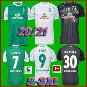 20 con 21 SV Werder Bremen fútbol jerseys 2020 2021 FRIEDL Klaassen Selke RASHICA BARTELS Werder Bremen camiseta de fútbol de local