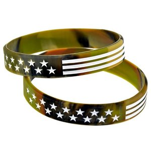 2020 Trump Silicone Bracelet Keep America Great Trump Campaign Bracelet Stars and Stripes Camo American Fashion Wristband