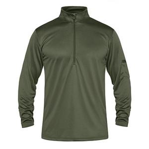 Été Performance T-shirts manches longues hommes Quick Dry tactique T-shirts Léger Randonnée travail Top T-shirts