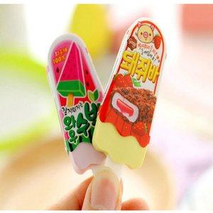 1PC New High Quality Kawaii Eraser Ice Cream Eraser Escolar Rubber 1PC New factory direct cute inexpensive mmj2010 aqgia