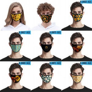3d máscara de impresión digital girasol colgantes cortavientos anti Haze respiración Mascarilla personal de alta tela elástico de mascarillas lavables 2 2mlg B2