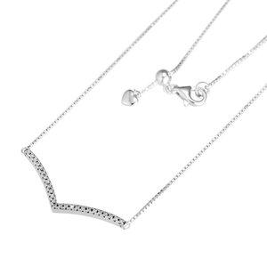Kadınlara 925 Gümüş Kolye Femme Collier Takı için Pırıltılı İstek gerdanlık kolye Şeffaf cz Moda kolye Kolye