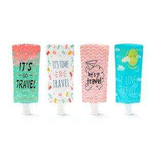 Bottiglia da 100 ml di viaggio Hand Sanitizer Cosmetic Bag di riempimento Imballaggio sacchetti portatili Shampoo Packaging Bottiglie CCA12061 500pcs