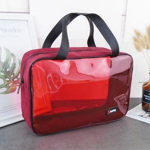 Transparente PVC tou ming bao Männer tragbare wasserdichte Badetasche Damen-portable Reisen Lagerung Badetasche