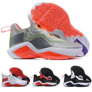 LeBrons Soldado 14 zapatos de baloncesto de los hombres XIV EP Hare James 14s Des Chausures soldados blanco negro rojo para hombre de las zapatillas de deporte Deporte Formadores