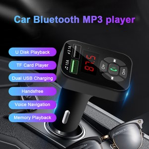 Car Bluetooth 5.0 FM Transmitter Wireless Handsfree Audio Receiver Car MP3 Player TF 3.1A Dual USB Fast Charger Accessories