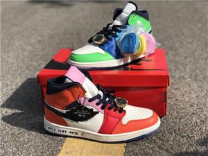 Air Jordan 1Melody Ehsani x Air Jordan 1 Mid WMNS Fearless  2020 Infant 1 x Zapatos Medio Melody Ehsani Sin Miedo baloncesto de los niños Fearless atléticos deportes de los niños