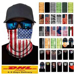 ABD Stok Unisex Sihirli Şapkalar Boyun Bisiklet Eşarp Bisiklet Motosiklet Kaskı Toz Yüz Bandana Fular Fonksiyonlu Doğa Sporları Maske