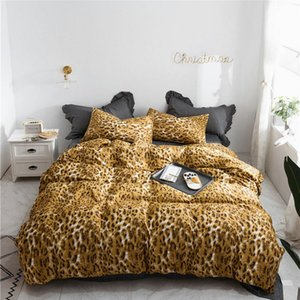 Cotton Duvet Cover Pillowcases Home Bedding Comforter Cover Set Pink Leopard Print Women Girls Sexy Gift Twin Queen King Size