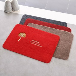 7HRns Embroidered doors House Products money tree anti-slip Home furnishing bathroom Embroidered doors House Products money tree mat anti-sl