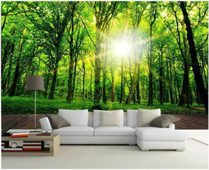 Custom Mural Wallpaper Sunshine Forest Nature Landscape Wall Painting Living Room TV Background Wall Papers Home Decor