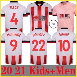 20 21 Sheffield Fußball-Trikots birgt MOUSSET Groß 2020 2021 McBurnie Lundstram FLECK Männer Kinder-Kit Fußball-Hemd NORWOOD SHARP Jersey