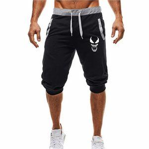 Summer Casual Venom skull Sport Shorts Men's cotton Short Sweatpants Jogger Breathable Trousers Boardshorts Man Drop Shipping