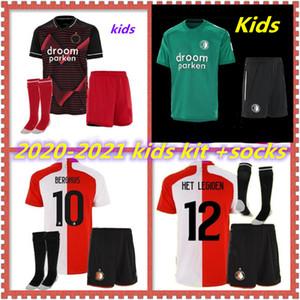 20 21 детей Комплект Feyenoord дома вдали трикотажные изделия футбола 2020 2021 KOKCU футбол рубашка Berghuis Camiseta де Futbol JORGENSEN Camiseta де Futbol