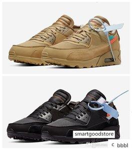 El nuevo diseñador de 90 para hombre Negro blanco de los zapatos corrientes de los hombres para mujer de los 90 deportes de diseño para mujer zapatillas de deporte del aire fuera tamaño de los formadores 12 Maxes