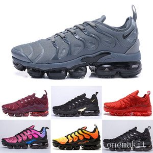 HOT sale TN PLUS Running Shoes For Men Women Black Speed Red White Anthracite Ultra White Black 2019 Best Designers Sneakers RT1-F