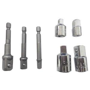 Socket Adapter Converter Set Hex Shank Drill Nut Wrench 3 Piece Socket Extension Adapter Bit Set of 4 Reducing Chucks Adapte