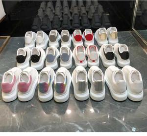 Belle plate-forme velours noir blanc réfléchissant chaussures de mode multi de couleur argent laser Sequin partie porm plates espadrilles occasionnelles hommes femmes chaussures