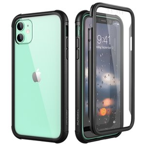Luxury Hard Case For iPhone 11 pro XS Max case with screen protector PC TPU Silicone 360 protection shpock case Cover Capa Funda