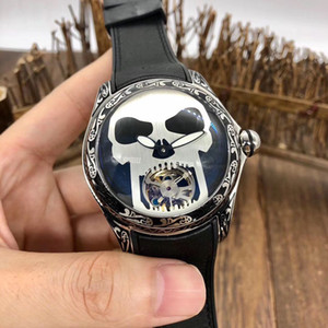 Luxury men's watch automatic mechanical movement skull totem 316 stainless steel case l sapphire original buckle 3ATM waterproof